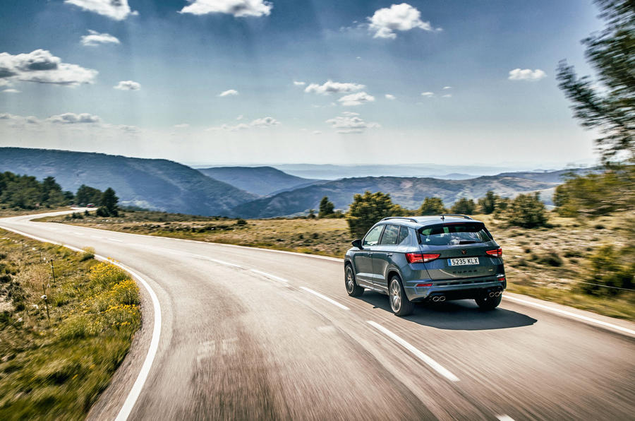 Cupra Ateca 2018 first drive review - action rear