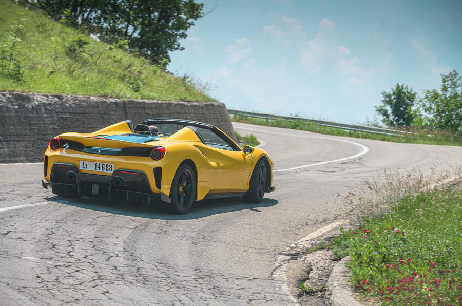 Ferrari 488 Pista Spider 2019 first drive review - back end