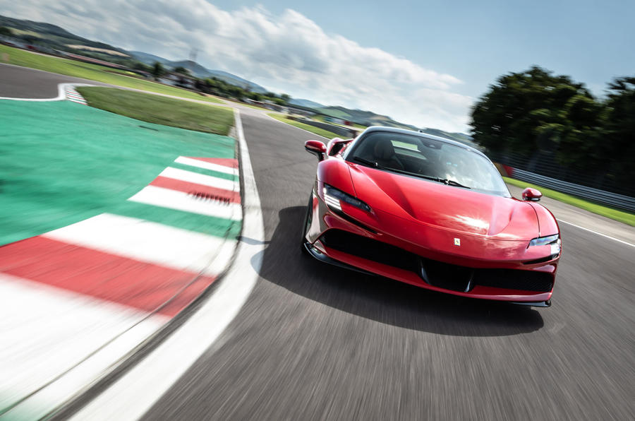 Ferrari SF90 Stradale 2020 first drive review - track nose