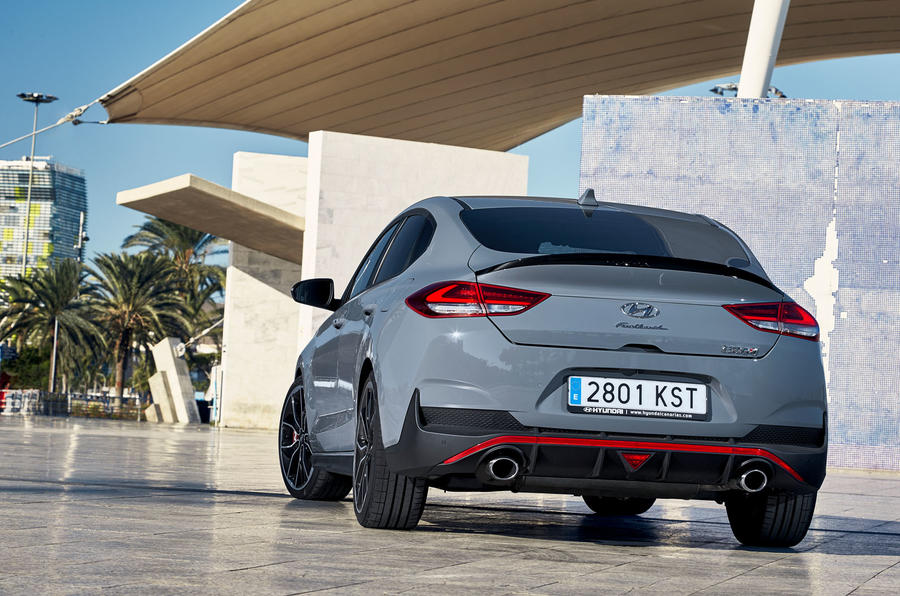 Hyundai i30 Fastback N 2019 first drive review - static rear