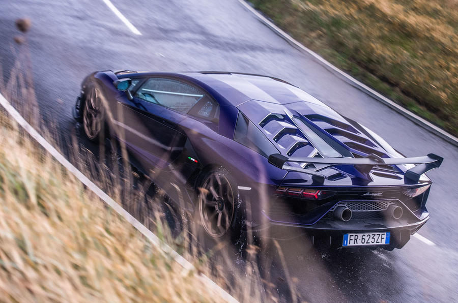 Lamborghini Aventador SVJ 2018 UK first drive review - aerial view