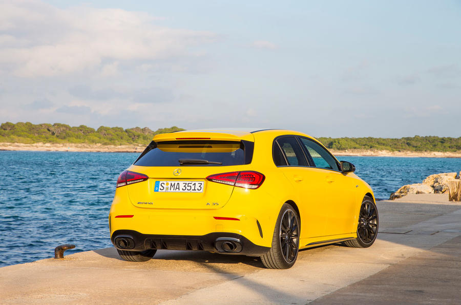 Mercedes-AMG A35 2018 first drive review - static rear