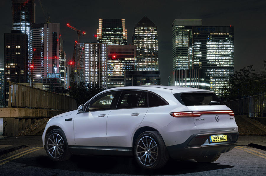 Mercedes-Benz EQC 400 2019 UK first drive review - static rear
