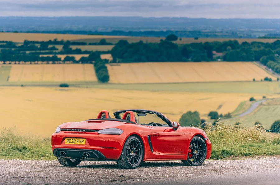 Porsche 718 Boxster GTS 4.0 2020 UK first drive review - static rear