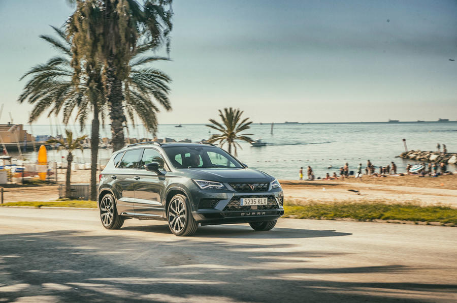 Cupra Ateca 2018 first drive review - action front