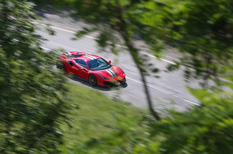 Ferrari 488 Pista 2018 review trees