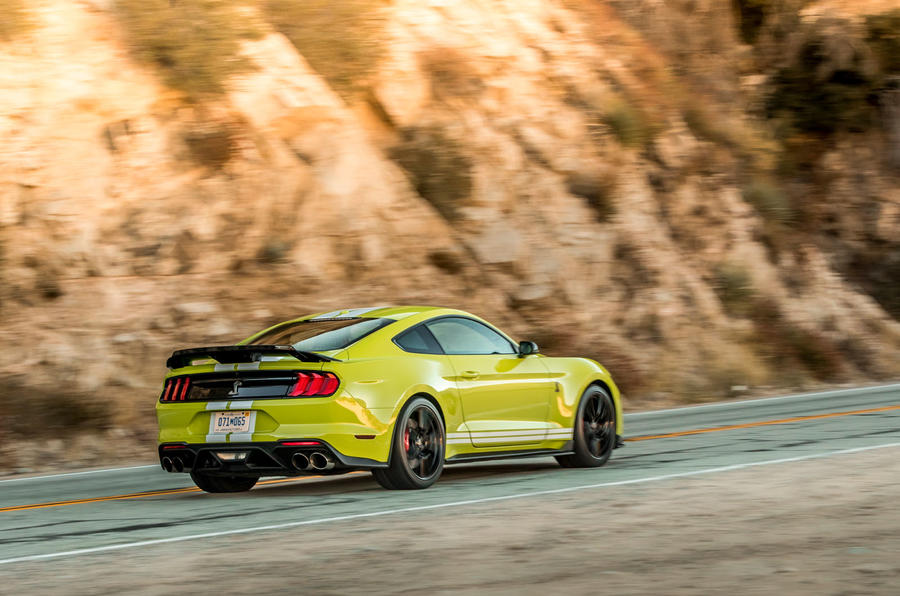 Ford Shelby Mustang GT500 2020 first drive review - cornering rear