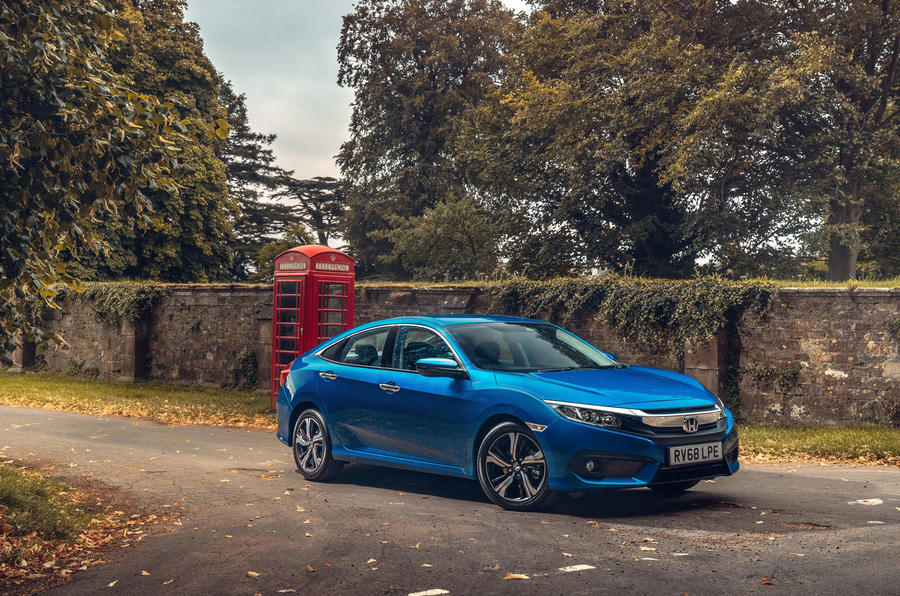 Honda Civic saloon 2018 UK first drive review static hero