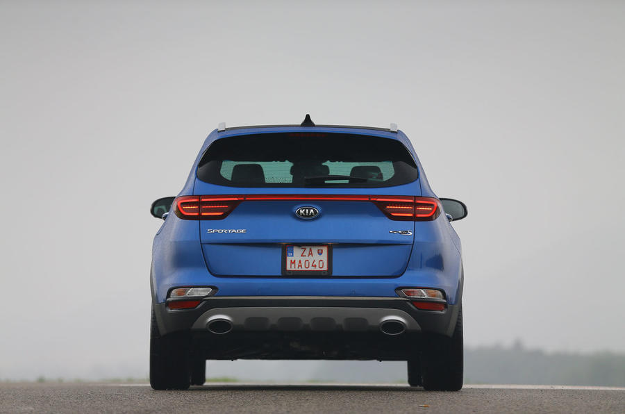 Kia Sportage GT-Line S 48V 2018 first drive review static rear