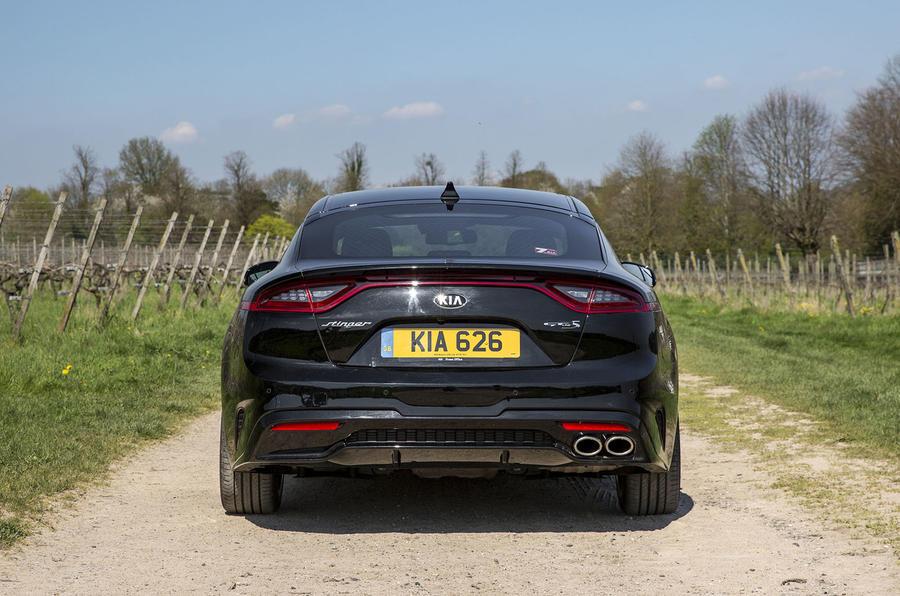 Kia Stinger 2.2 CRDi 2018 UK review static rear