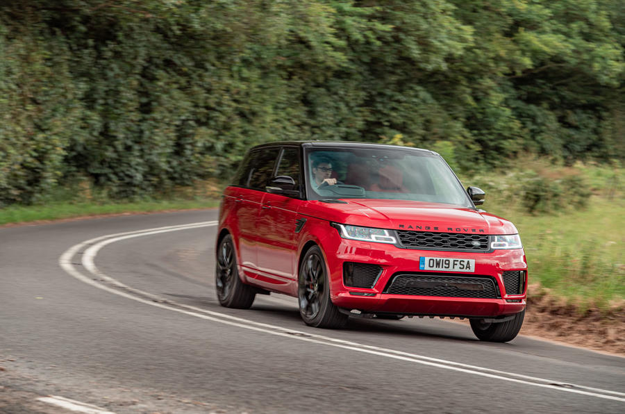 Land Rover Range Rover Sport HST 2019 UK first drive review - cornering front