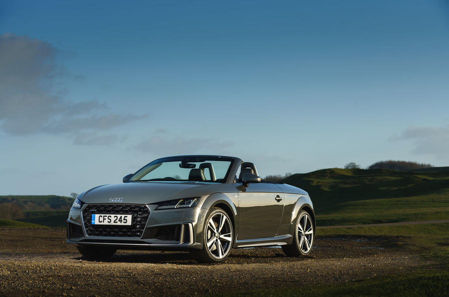 Audi TT Roadster 2019 UK first drive review - static front