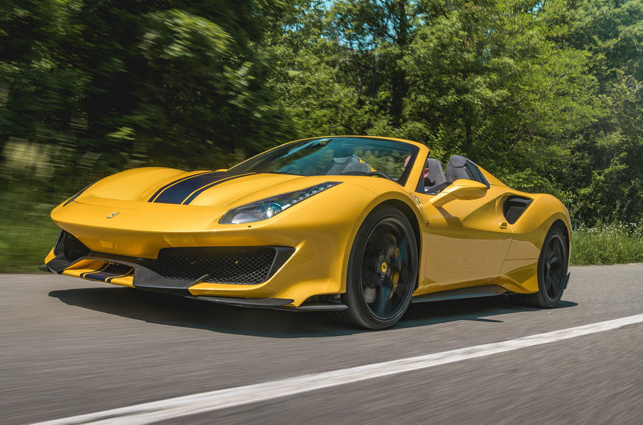 Ferrari 488 Pista Spider 2019 first drive review - on the road front
