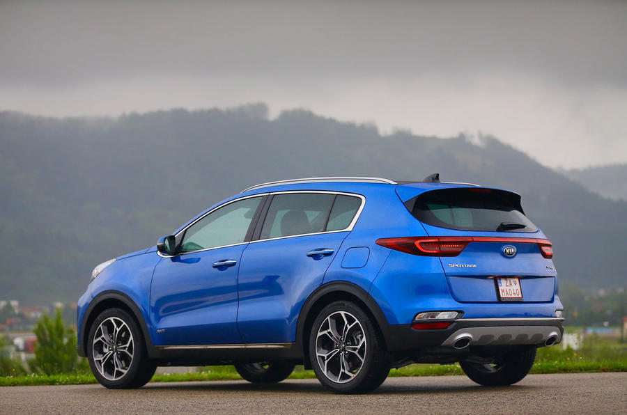 Kia Sportage GT-Line S 48V 2018 first drive review static hero rear