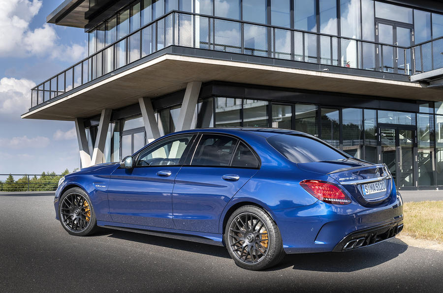 Mercedes-AMG C63 2018 first drive review static rear