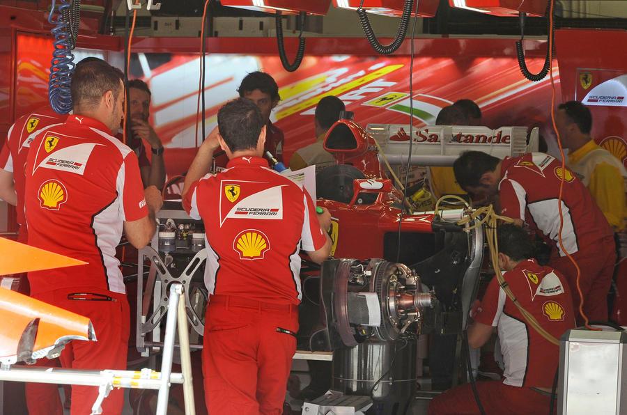 Ferrari engineers