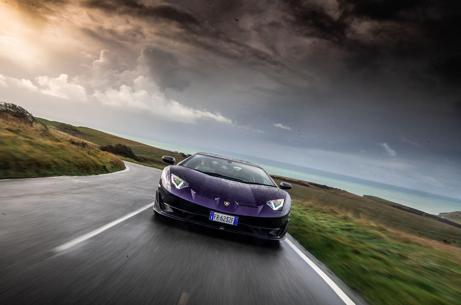 Lamborghini Aventador SVJ 2018 UK first drive review - on the road action