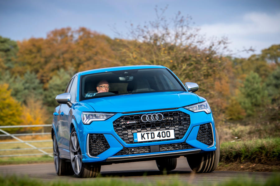 Audi RS Q3 Sportback 2019 UK first drive review - cornering front
