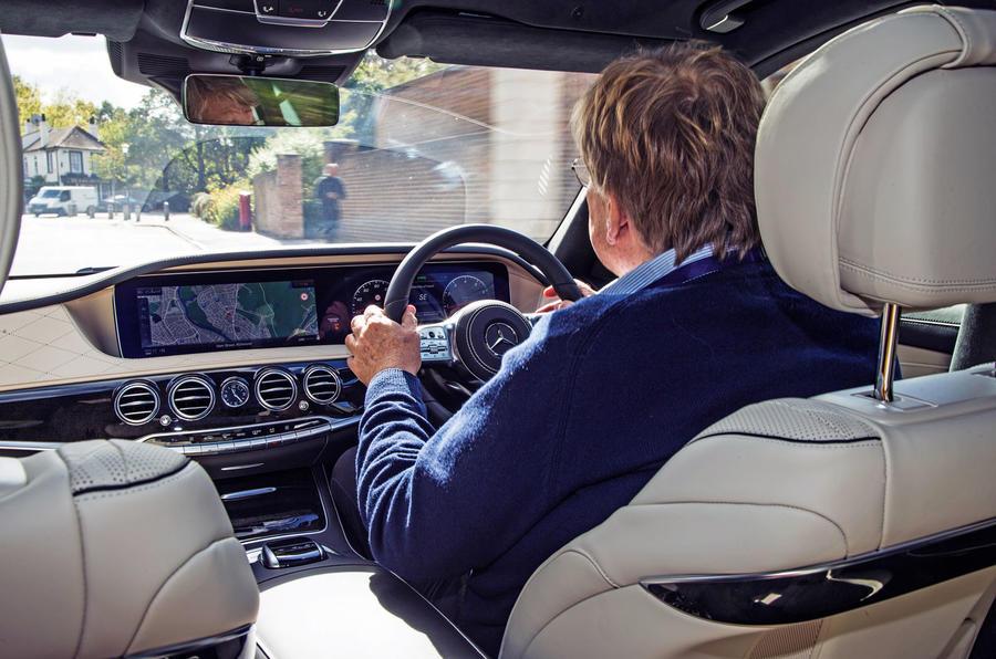 Mercedes-Benz S-Class S500L 2018 long-term review - Steve Cropley driving
