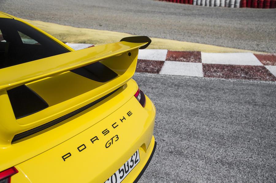 Porsche 911 GT3 rear badging