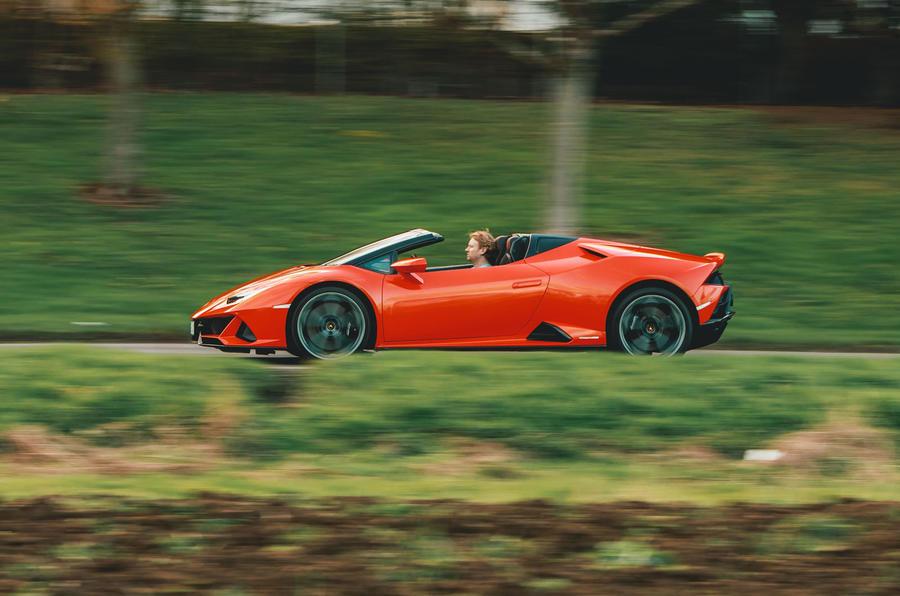 Lamborghini Huracán Spyder 2020 UK first drive review - hero side