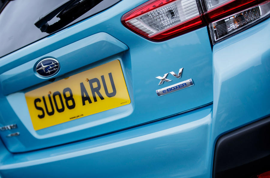 Subaru XV e-Boxer 2020 UK first drive review - rear badge
