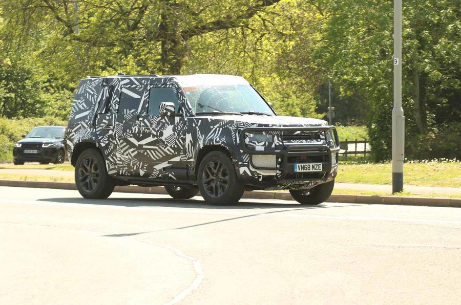 Land Rover Defender and Range Rover Velar hybrids spotted