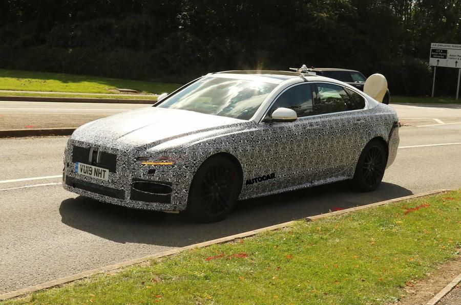 Jaguar XF update spy images