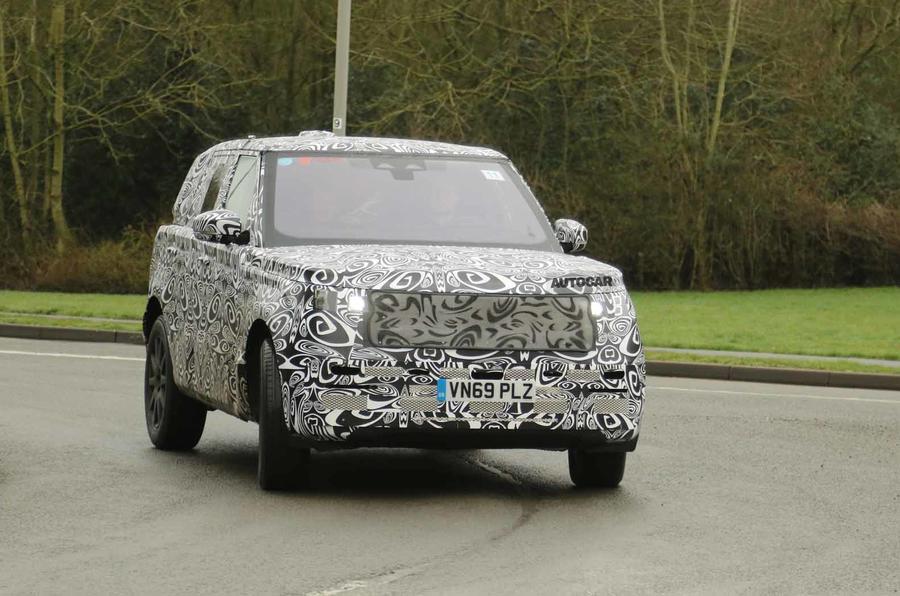 2022 Range Rover Sport prototype front 3/4