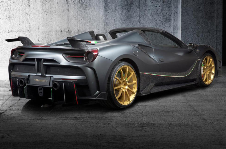 German tuner Mansory launches Ferrari 488-based 4XX Siracusa Spider