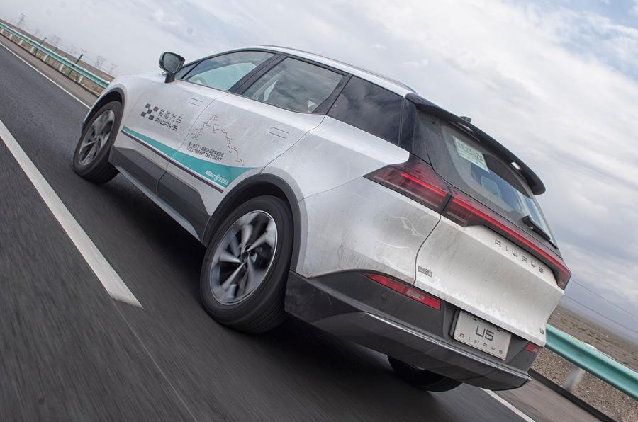 Aiways U5 2019 prototype drive review - hero rear