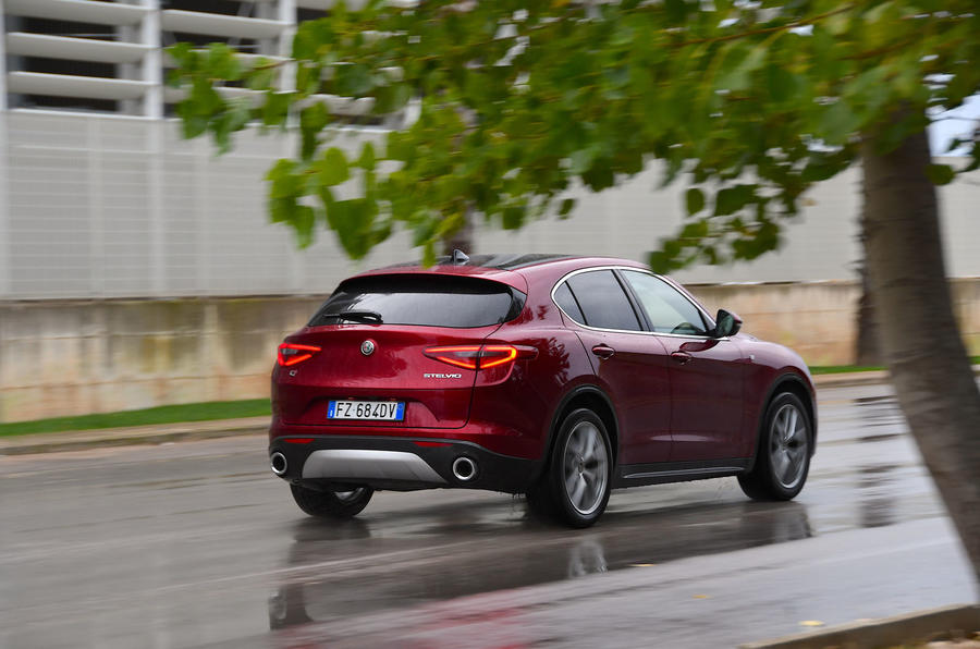 Alfa Romeo Stelvio Ti 2019 first drive review - hero rear
