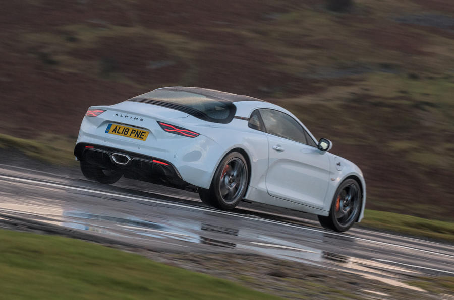 Alpine A110 S 2020 UK first drive review - tracking rear