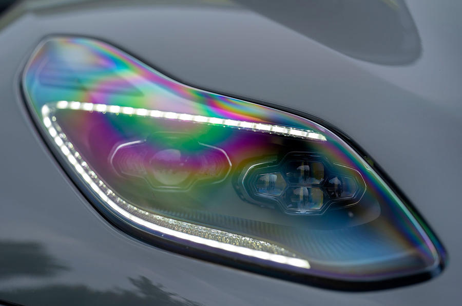Aston Martin DB11 AMR 2018 review headlights