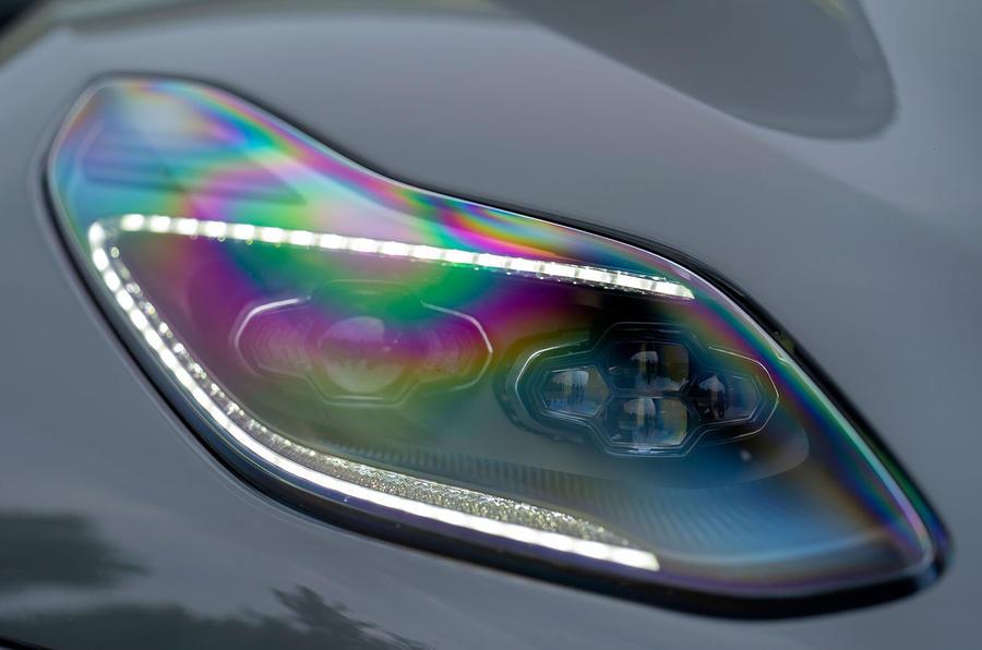 Aston Martin DB11 AMR 2018 review headlights