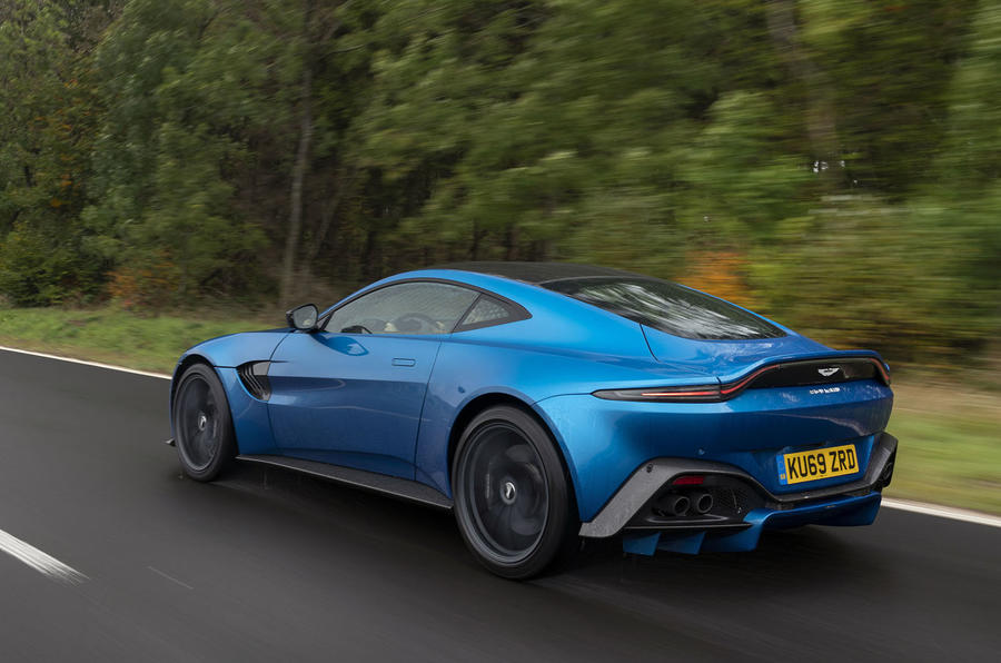 Aston Martin Vantage manual 2019 first drive review - hero rear