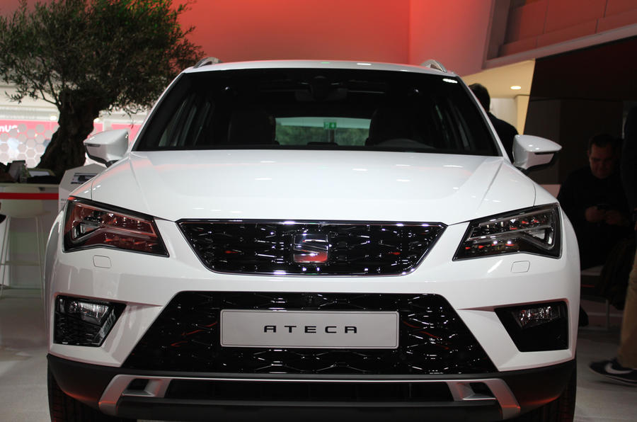 The SEAT Ateca on display at the firm's exterior stand