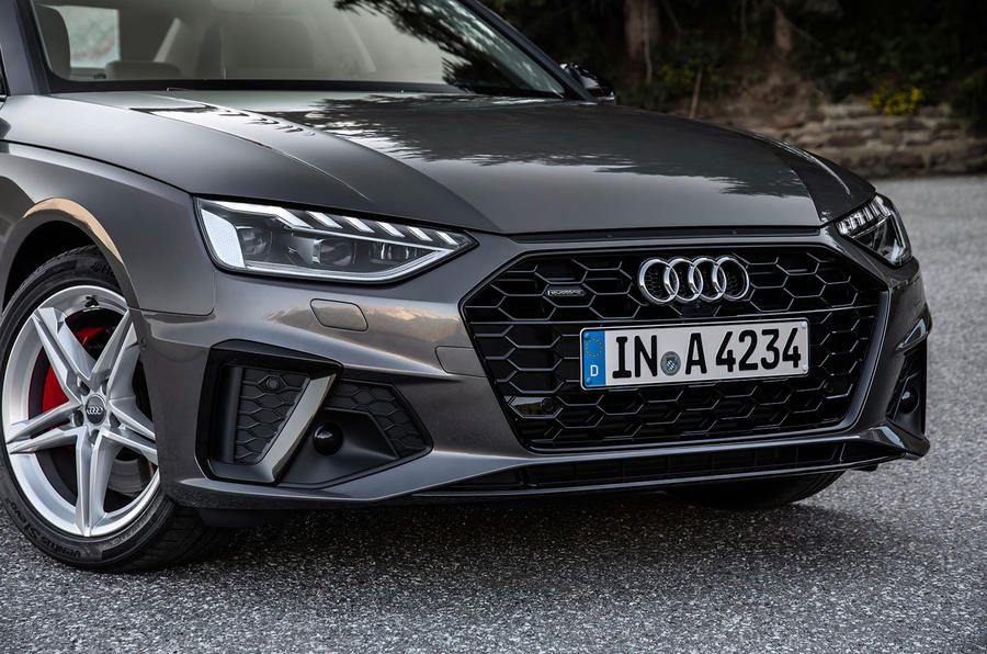 Audi A4 2019 first drive review - front bumper