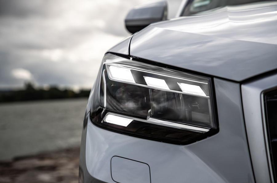 Audi Q2 2020 first drive review - headlights