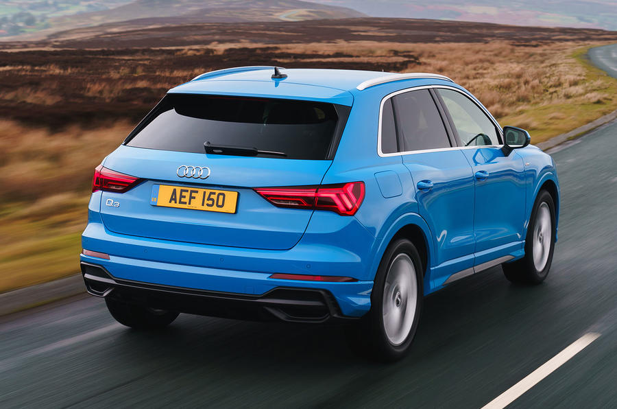 Audi Q3 45 TFSI 2019 first drive review - hero rear