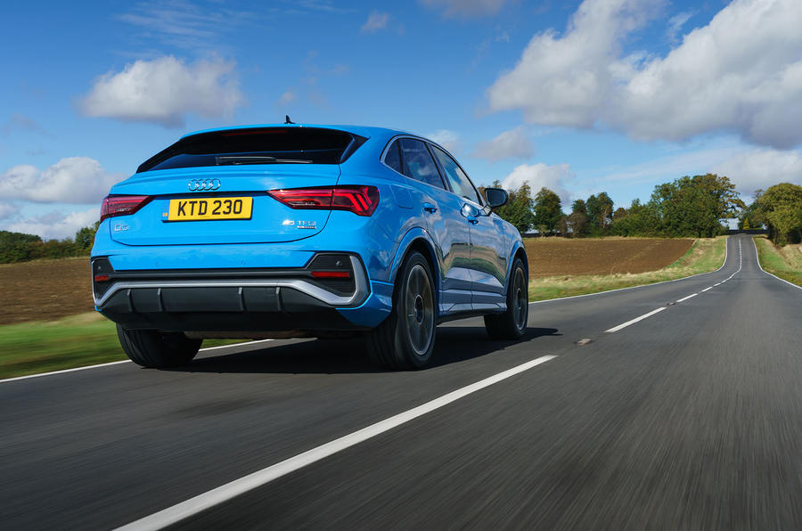 Audi Q3 Sportback 2019 UK first drive review - hero rear