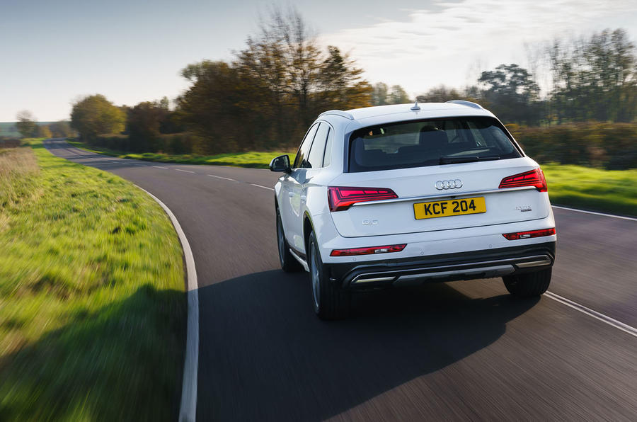 Audi Q5 40 TDI Sport 2020 UK first drive review - hero rear
