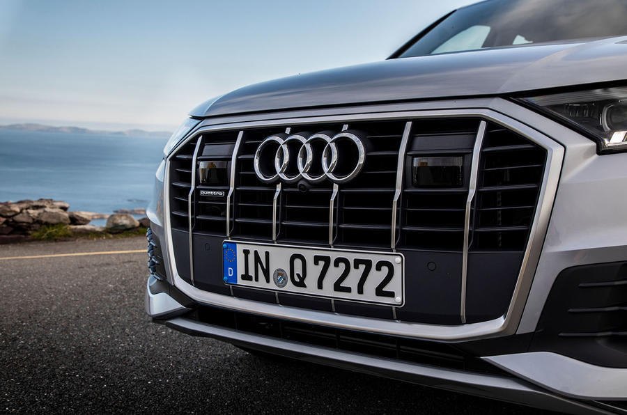 Audi Q7 2019 first drive review - front end