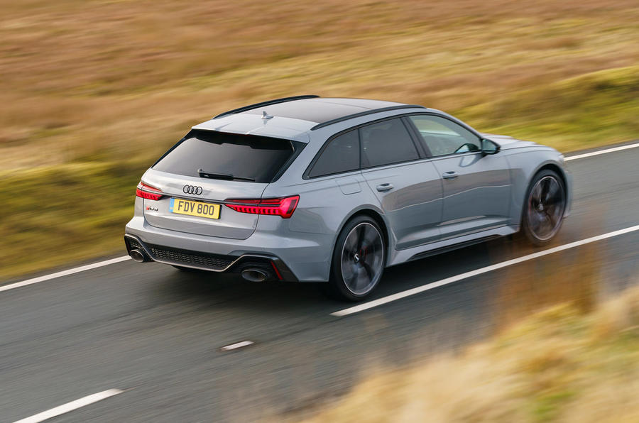 Audi RS6 2020 UK first drive review - hero rear