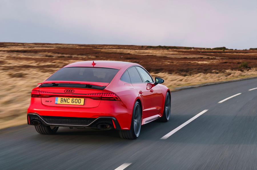 Audi RS7 Sportback 2020 UK first drive review - hero rear