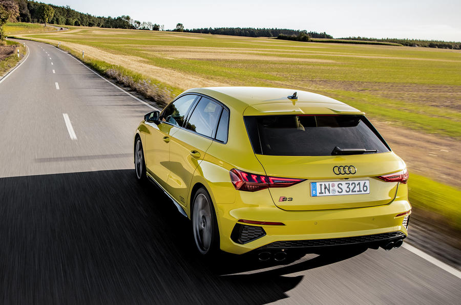 Audi S3 Sportback 2020 first drive review - hero rear