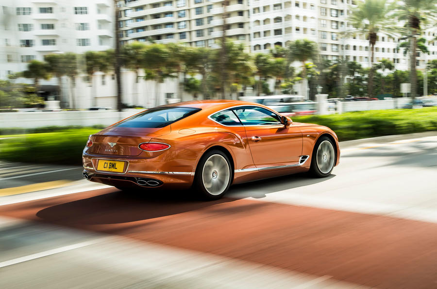Bentley Continental GT V8 2019 first drive review - hero rear