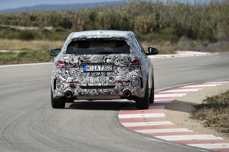 BMW 1 Series 2019 prototype drive - hero rear