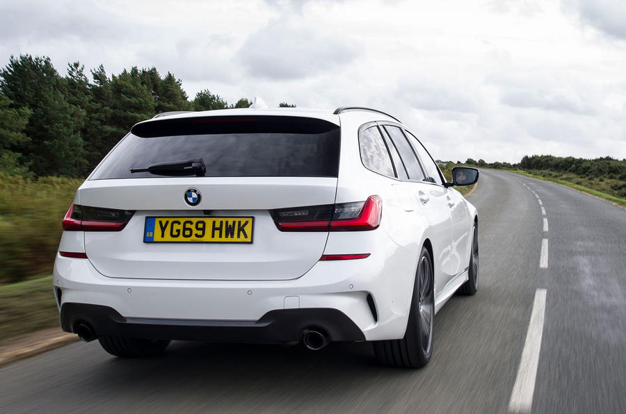 BMW 3 Series Touring 330d 2019 UK first drive review - hero rear