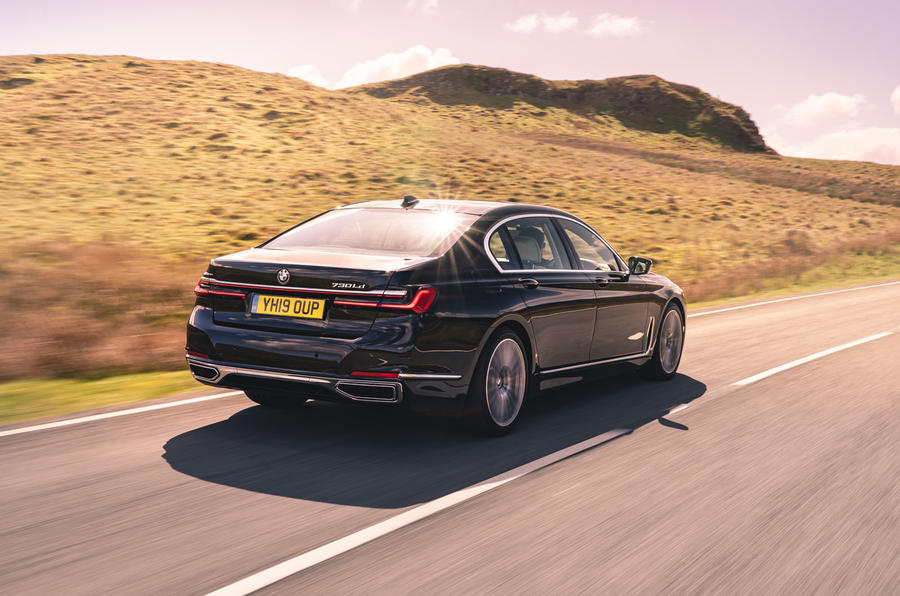 BMW 7 Series 730Ld 2019 UK first drive review - hero rear